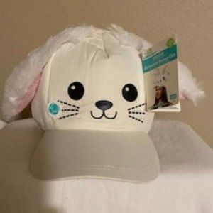 EASTER ANIMATED CUTE WHITE BUNNY WOMEN HAT